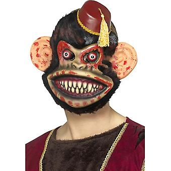 Zombie Toy Monkey masker, Brown, EVA, met bont