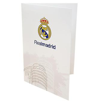 Real Madrid CF White Greetings Card