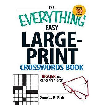 すべて簡単な大型印刷クロスワード パズル本 (大型版)