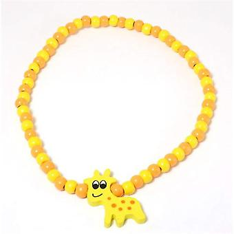 The Olivia Collection Childrens Wooden Beads Elasticated Giraffe Necklace