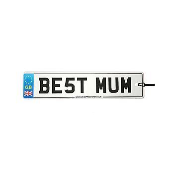 Best Mum License Plate Car Air Freshener