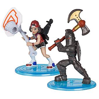 Fortnite 63531 Duo Pack-Assortment Black Knight & Triple Threat,