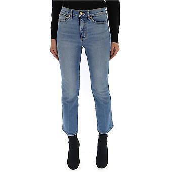 Tory Burch 51592427 Women's Light Blue Cotton Jeans