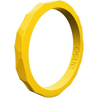Enso Rings Hammered Stackables Series Silicone Ring - Goldenrod
