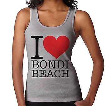 Eu amo colete Bondi Beach feminino