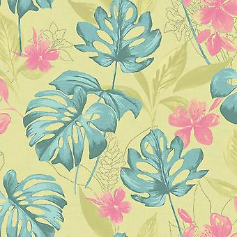 Floral Flower Motif Luxury Wallpaper Paste The Wall Panama Holden 2 Cores