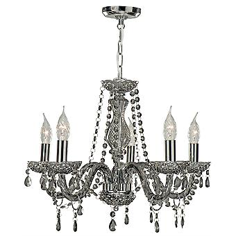 5 Light Smoked Marie Therese Fitting - Searchlight 8695-5GY