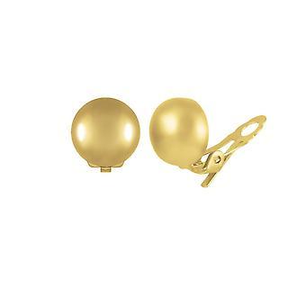 Eterna collezione Belvoir alta lucentezza tono oro cupola classica Stud Clip su orecchini