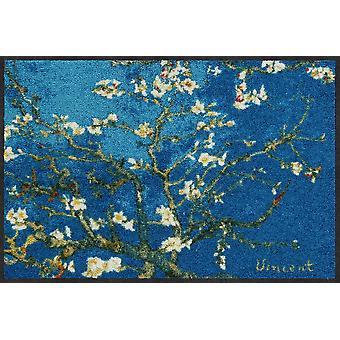 Salon lion doormat Mandelbaum turquoise 50 x 75 cm. washable dirt mat