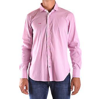 Etiqueta Negra Ezbc183004 Men's Pink Cotton Shirt