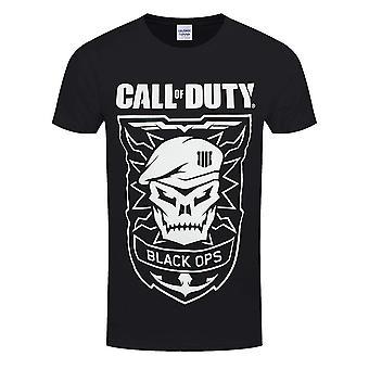Call Of Duty Unisex Adults Black Ops Skull Design T-Shirt