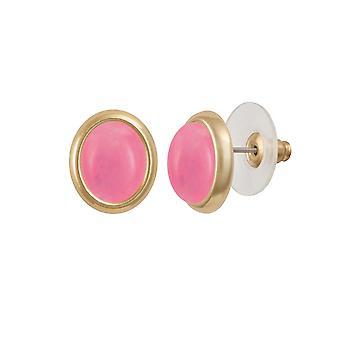 Éternelle Collection menuet Rose Rose Quartz doré Stud boucles d'oreilles