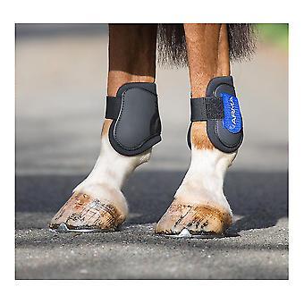 Shires Arma Fetlock Boots-zwart/koningsblauw