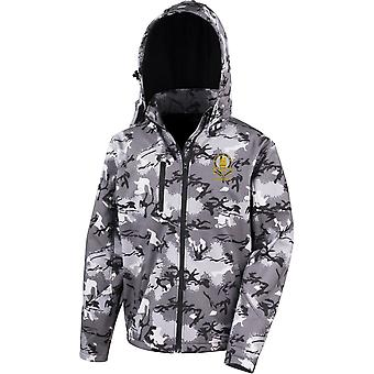 14ème Kings Hussars Veteran - Licensed British Army Embroidered Performance Hooded Camo Softshell Jacket