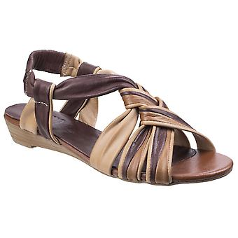 Riva Womens Cala Strappy Slingback Sandal Brown
