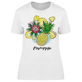 Pineapple Ananas Flower Tee Women's -Image by Shutterstock