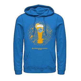 Blue Moon Tall Glass Sky Blue Hoodie