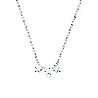 Elli-kvinners anheng halskjede-sølv 925-stjerners form-0102310713_45