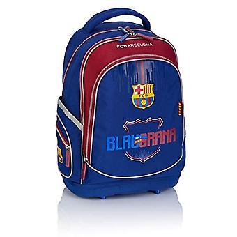 F.C. Barcelona FC-230 Boat Fan 7 - School Backpack - 41 x 29 x 18 cm - Color: Navy Blue/Bordeaux