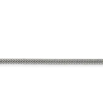 Stainless Steel Polished Fancy Lobster Closure 3.2mm Bismark Chain Necklace Jewelry Gifts for Women - Length: 20 to 30