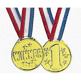 12 No.1 Voittaja-palkintomitalit juhlalausseista ja pelipalkinnoista