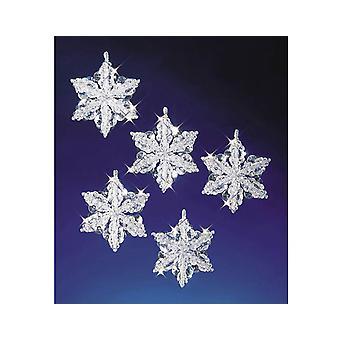 6 шарик & продуть снежинки Рождество орнамент ремесла Kit
