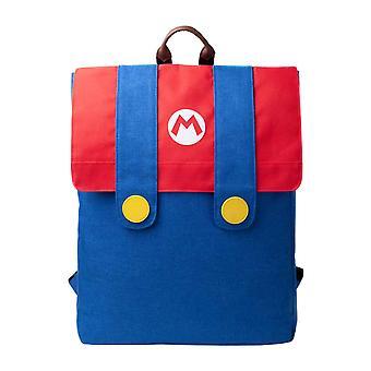 Super Mario Rucksack Mario Denim Anzug Klappe Cosplay neue offizielle Nintendo Blau