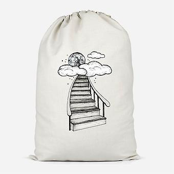To The Moon And Back Cotton Storage Bag