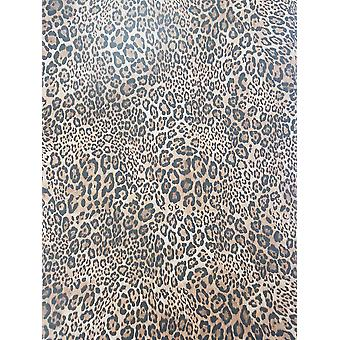 Black Brown Leopard Print Wallpaper Spots Animal Print Paste The Wall Steampunk