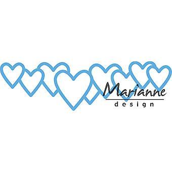 Marianne Design Creatables veel liefde sterven, blauw