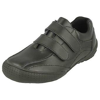 Boys JCDees N1073 Leather Formal School Shoes