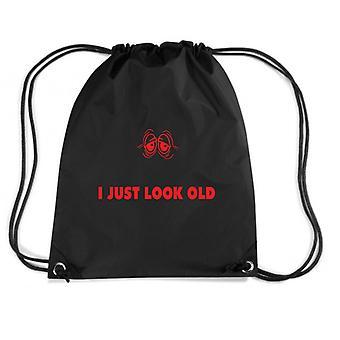 Black backpack trk0876 look old