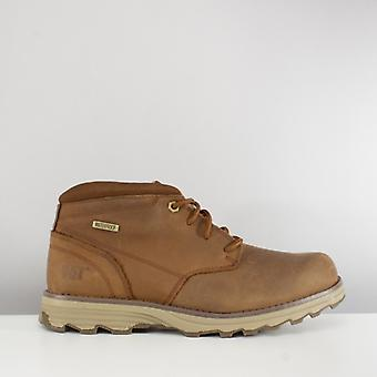 CAT Lifestyle Elude Mens Leather Waterproof Boots Brown