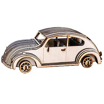Crafts - vw bug - model kit raw wood 10x4x4in