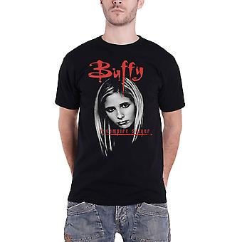 Buffy The Vampire Slayer T Shirt Buffy Face new Official Mens Black