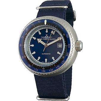 Zeno-Watch - Relógio de Pulso - Homens - Deep Diver Tachymeter azul - 500-i4
