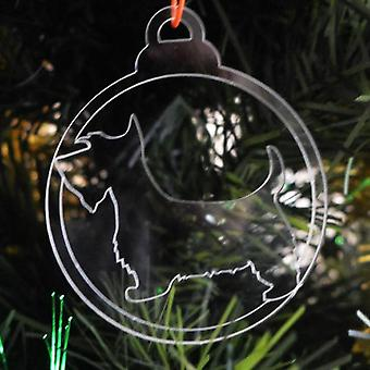 Dog Bauble Clear Acrylic Christmas Decorations 6pk - Scottie Dog
