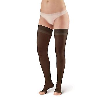Pebble UK Toeless Sheer Support Thigh Highs [Style P45] Beige  XL