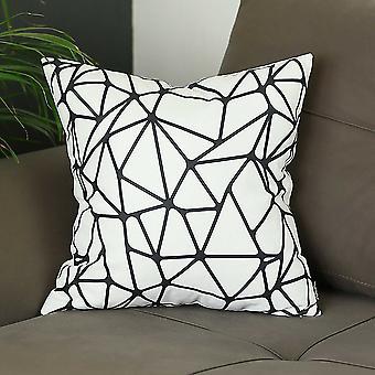 "18""x18"" Skandi BW Tangle Decorative Throw Pillow Cover Printed"