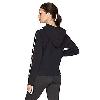 Under Armour Women's Microthread Fleece Graphic, Black (001)/White, Size Small