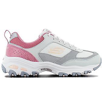 Skechers D Lites Fan Love 13140-GYPK Damen Schuhe Grau Sneaker Sportschuhe