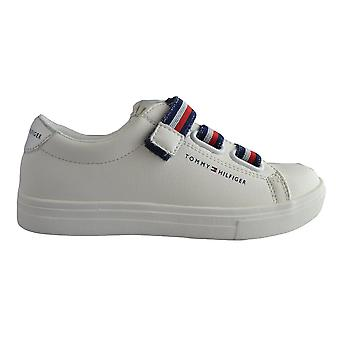 Tommy Hilfiger Girls White Velcro Trainers