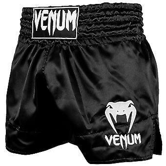 Venum Classic Muay Shorts Tailandeses Negro/Blanco