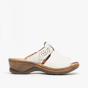 Josef Seibel Catalonia 32 Ladies Leather Mule Sandals White