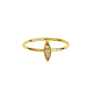 14k Yellow Gold 0.05 Dwt Diamond Drop Marque Diamond Cluster Ring Jewelry Gifts for Women - Ring Size: 6 to 8