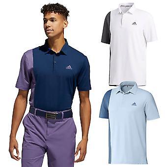 adidas Golf Herren 2020 Ultimate Blockiert Print Stretch Feuchtigkeit Wicking Polo Shirt