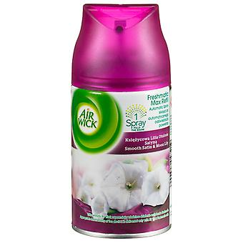 3 X Air Wick Freshmatic Max Automatic Spray Refill 250Ml - Smooth Satin & Moon Lily