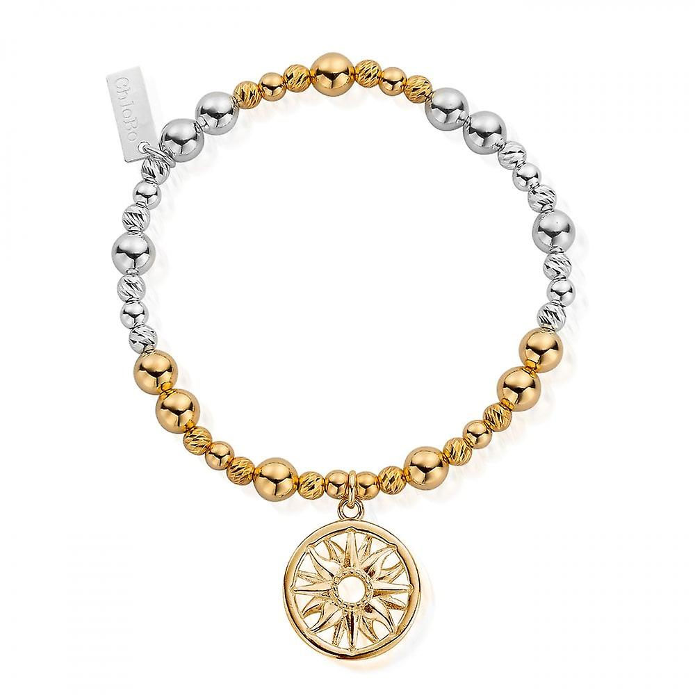 ChloBo Gold & Silver Sun Mandala Bracelet