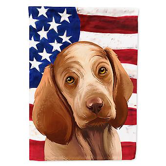 Bracco Italiano Dog American Flag Flag Canvas House Size