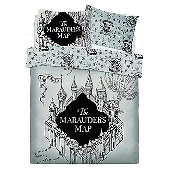 Harry Potter Marauders Map Double Duvet Cover Set